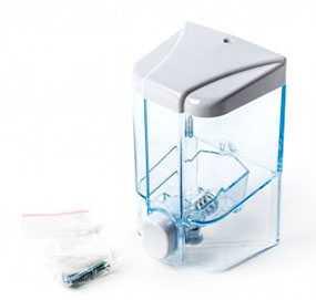Дозатор для жидкого мыла S1, 500 мл, прозрачный (Турция)