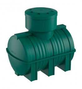 Емкость подземная D 1000 литров накопительная зеленая