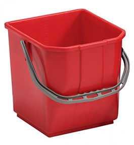 Ведро для уборочной тележки красное 25 л, Derin Endustriyel (Турция)