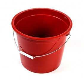 Ведро стандартное, 20 л, красное, Derin Endustriyel (Турция)