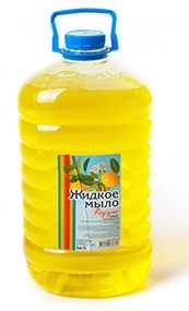 Мыло жидкое Радуга лимон, 5 л ПЭТ (Россия)