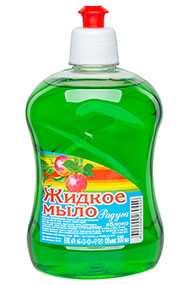 Мыло жидкое Радуга Яблоко, дозатор, 500 мл (Россия)