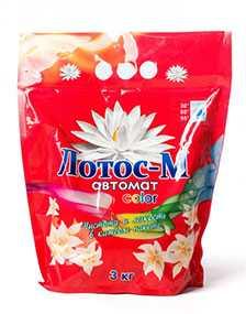 Стиральный порошок Лотос-М автомат для цветного белья, 3 кг (Россия)