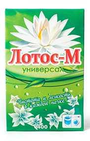 Стиральный порошок Лотос-М универсал, 400 г (Россия)