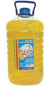 Средство для мытья посуды Радуга Лимон, 5 л ПЭТ (Россия)