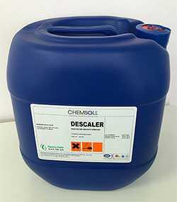 Средство для удаления известкового налета и твердых отложений (концентрированное) Chemsoll DESCALER (жидкость)-30л-Chemsoll (Турция)