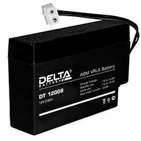 Аккумуляторная батарея 12V/0.8Ah Delta DT 12008- DELTA (Китай)