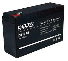 Аккумуляторная батарея 6 V/ 12Ah Delta DT 612-DELTA (Китай)