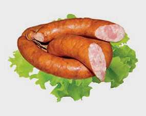 Колбаса полукопченая из мяса птицы Святочная, высший сорт, СЛАВИНПРОДУКТ (Беларусь)