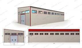 Производственный цех (30x12x8,0 м) из металлокаркасов (с кран-балкой) - ПУХОВИЧИМЕТАЛЛСТРОЙ (Беларусь)