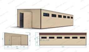Ангар (20х10х4,5 м) из металлокаркасов (складское помещение) - ПУХОВИЧИМЕТАЛЛСТРОЙ (Беларусь)