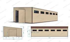 Ангар (20х10х5,5 м) из металлокаркасов (складское помещение) - ПУХОВИЧИМЕТАЛЛСТРОЙ (Беларусь)