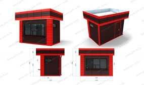 Торговый киоск (2,5х4,0x3,5 м) из сэндвич панелей - ПУХОВИЧИМЕТАЛЛСТРОЙ (Беларусь)