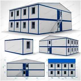 Жилой комплекс двухэтажный (10x14x5,03 м) из вагон-бытовок модульного типа - ПУХОВИЧИМЕТАЛЛСТРОЙ (Беларусь)