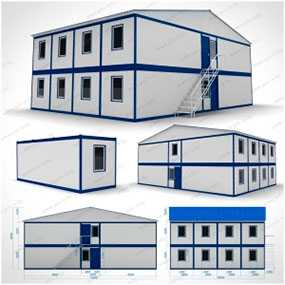 Жилой комплекс двухэтажный (10x14x6,57 м) из вагон-бытовок модульного типа - ПУХОВИЧИМЕТАЛЛСТРОЙ (Беларусь)