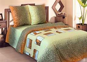Ткань постельная Бязь Сафари (01) 2,2м - Блакит(Барановичи)