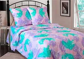 Ткань постельная Бязь Нежность (05) 2,2м - Блакит (Барановичи)