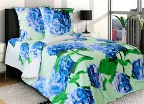 Ткань постельная Бязь Гортензия (01) 2,2м - Блакит(Барановичи)
