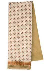 Кашне мужское шелк-шерсть Гольф вид 1, 27х140 см - Павловопосадская платочная мануфактура (Россия)