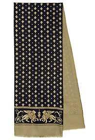 Кашне мужское шелк-шерсть Севилья вид 2, 27х140 см - Павловопосадская платочная мануфактура (Россия)