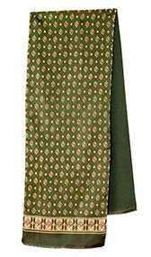 Кашне мужское шелк-шерсть Эдельвейс вид 10, 27х140 см - Павловопосадская платочная мануфактура (Россия)