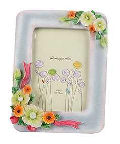 Рамка для фото стеклянная Цветы, арт. 244A, 10*15 см, Noname (Китай)