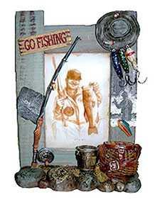 Рамка для фото керамическая Рыбалка, арт. 22725, 10*15 см, Noname (Китай)