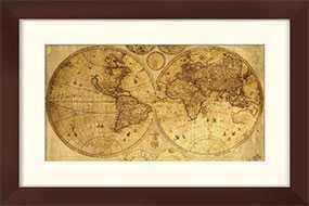 Декор (рамка декоративная) World Map с петлей для навески, 40*60 см, INNOVA (Китай)