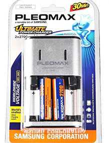 Зарядное устройство SAMSUNG Pleomax 1011 Ultimate Power, 2700mAh, Samsung (Китай)
