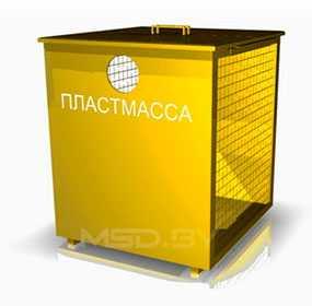 Контейнер для сбора мусора (для пластмассы), 750 л - ПУХОВИЧИМЕТАЛЛСТРОЙ (Беларусь)