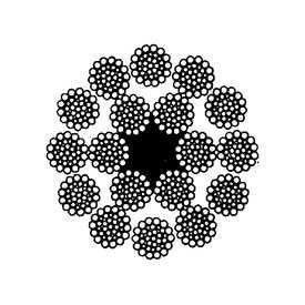 Канат стандартный двойной свивки многопрядный малокрутящийся типа ЛК-РО (ГОСТ 16827) - СЕВЕРСТАЛЬ-МЕТИЗ (Россия)