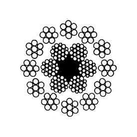 Канат стандартный двойной свивки многопрядный малокрутящийся типов ЛК-Р (ГОСТ 16828) - СЕВЕРСТАЛЬ-МЕТИЗ (Россия)
