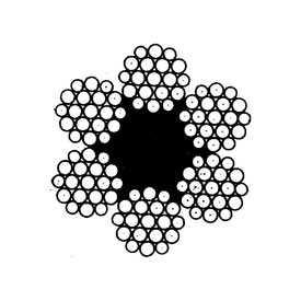 Канат стандартный крестовой свивки типа ЛК-Р (ГОСТ 2688) - СЕВЕРСТАЛЬ-МЕТИЗ (Россия)