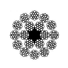 Канат стандартный двойной свивки многопрядный типа ЛК-Р (ГОСТ 3088) - СЕВЕРСТАЛЬ-МЕТИЗ (Россия)