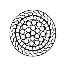 Канат закрытого типа с одним слоем клиновидной и одним слоем Z-образной проволоки (ГОСТ 7675) - СЕВЕРСТАЛЬ-МЕТИЗ (Россия)