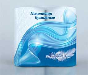 Полотенца бумажные белые с глубоким тиснением двухслойные, 2 рулона по 57листов 200х246мм арт.15С3705 - ОАО Альбертин (Беларусь)