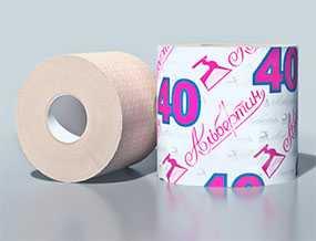 Бумага туалетная с гильзой 40 м арт. 13С2705 - ОАО Альбертин (Беларусь)