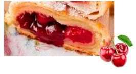 Наполнитель термостабильный с кусочками фруктов (ягод) Вишневый с кусочками (ведро 5 кг)