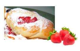 Наполнитель термостабильный с кусочками фруктов (ягод) Клубничный (ведро 5 кг)