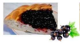 Наполнитель термостабильный с кусочками фруктов (ягод) Черная смородина (ведро 5 кг)