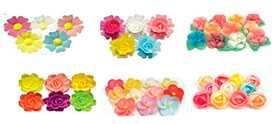 Вафельные украшения Цветы вафельные микс