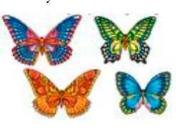 Вафельные украшения Бабочки вафельные