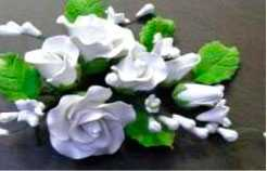 Изделия в виде цветов из мастики (цветочная композиция) 11186G