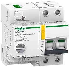 Выключатель автоматический (автомат) двухполюсный 10A B Reflex iC60H Ti24 - Schneider Electric