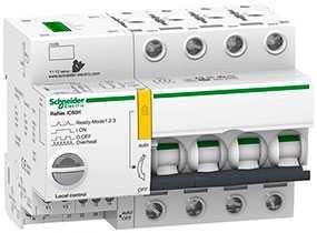 Выключатель автоматический (автомат) четырехполюсный 63A B Reflex iC60N Ti24- Schneider Electric
