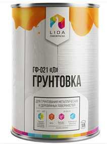 Грунтовка ГФ-021 Л, 1л - ЛАКОКРАСКА (Беларусь)
