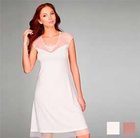 Сорочка женская ночная со спущенным плечом арт. 8234, трикотажная коллекция Нежное прикосновение - Джимил