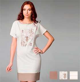 Сорочка женская ночная с коротким рукавом арт. 8290, трикотажная коллекция Одуванчики - Джимил