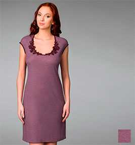 Сорочка женская ночная со спущенным плечом арт. 8261, трикотажная коллекция Гортензия - Джимил