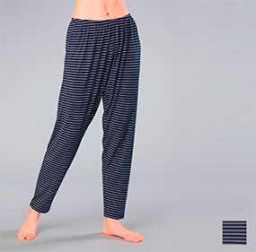 Брюки женские пижамные с низкой линией талии арт. 8331, трикотажная коллекция Полосатые встречи - Джимил